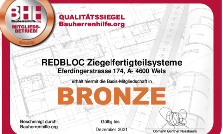 Auszeichnung Bauherrenhilfe